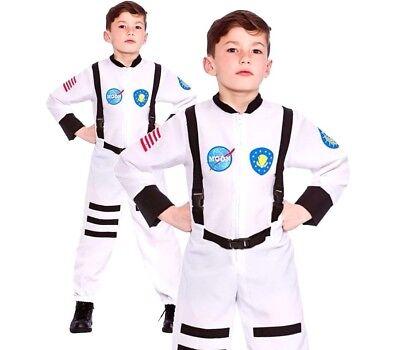 Boys Girls MOON MISSION ASTRONAUT Fancy Dress NASA Space Kids Costume - Girls Astronaut Costume