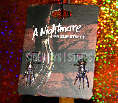 Freddy Krueger Claw (FREDDY KRUEGER GLOVE STUD EARRINGS claw a nightmare on elm street horror)