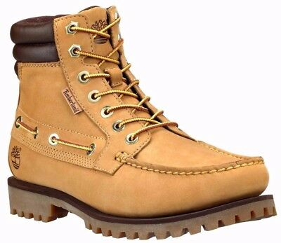 Men's Timberland OAKWELL 7-EYE MOC TOE BOOTS, TB072540 231 Multiple Sizes Wheat Eye Moc