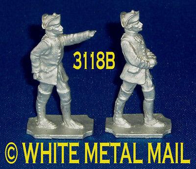 PRUSSIAN Artillery 40mm Casting Set 3118B 7 Years War Officer & Crewman + Round