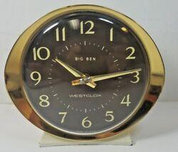 Vintage Westclox USA Big Ben Wind Up Alarm Clock All Metal Case  ** FOR PARTS **