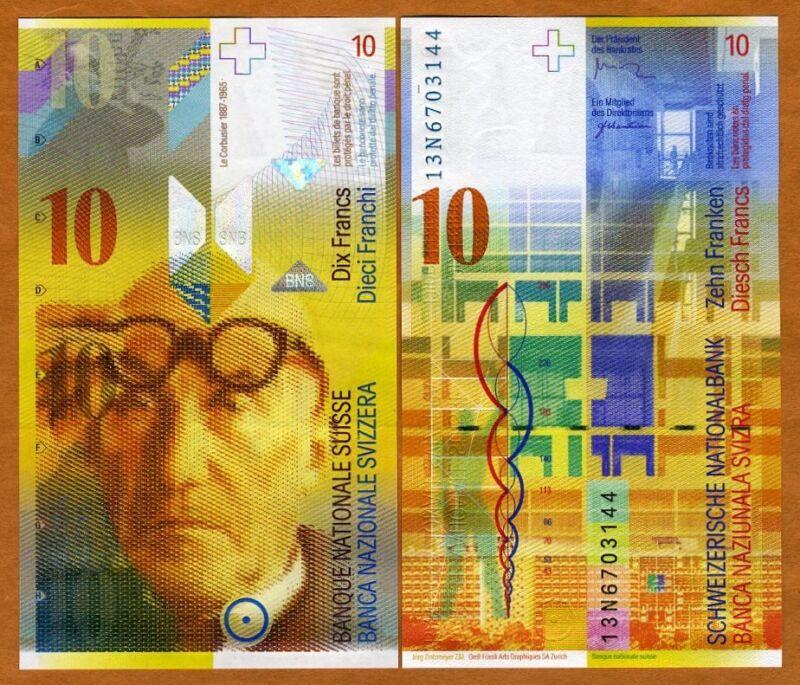 Switzerland, 10 Francs, 2013, P-67d,  UNC