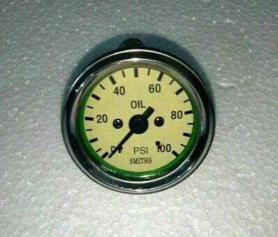 Smiths Replica 52 mm Mechanical 100 psi Oil Pressure Gauge Cream Face