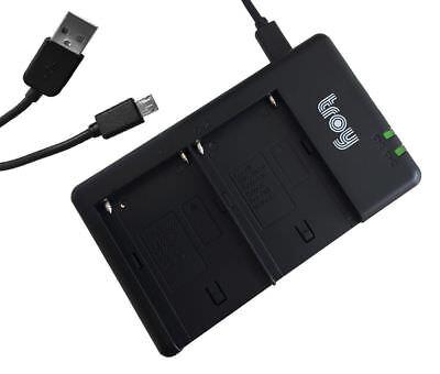 Troy Dual Ladegerät für Sony NPF550 NP-F550 NP-F330 NP-F530 NP-F570