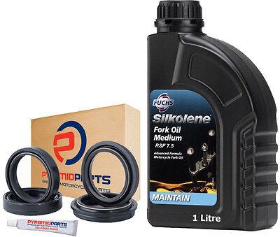 Suzuki GSX750 F 1989-2005 Fork Seals Dust Seals + Silkolene Oil