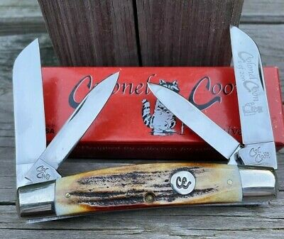 COLONEL COON POLISHED STAG 4 Blade CONGRESS KNIFE LIMITED 1 Of 200