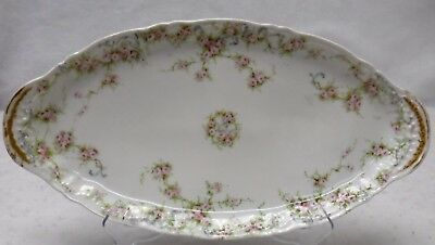 """HAVILAND china SCHLEIGER 340A pattern Oval Bread Tray or Platter - 13"""" x 6-1/2"""""""
