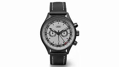 Original Audi Uhr, Audi Armbanduhr, Uhr Kalenderwoche grau/schwarz, NEU/OVP