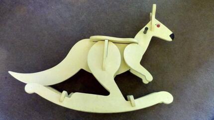Rocking horse (actually, kangaroo) with templates and jigs