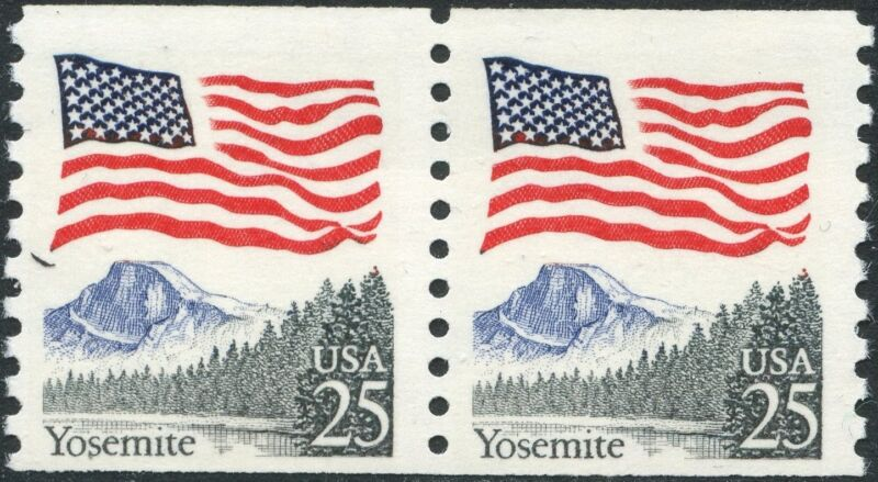 "#2280e ""flag Over Yosemite"" Pair Black Trees Error Bp2560b"