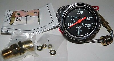 """NEW 2-1/16"""" Mechanical Oil Coolant Water Temp Gauge with Sender by Make Waves"""
