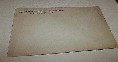 Vtg 1915 PPIE Panama Pacific International Exposition Official Envelope