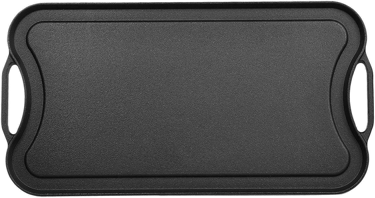 Cast Iron Griddle for Gas Stovetop Reversible Cast Iron Gril
