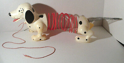 Slinky Dog Pull Toy Original James Ind Rare Spotted Dalmation PlasticMetal Works