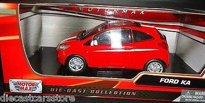 Motor Max  2008 Ford KA Red W/ White Stripes 1/24 Diecast Car Model 73382rd  comprar usado  Enviando para Brazil
