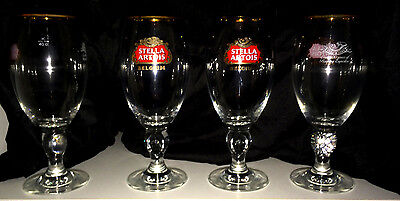 Set of 4 Stella Artois Chalice 40CL Glasses Beer Pub Bar Pint glass Brand New