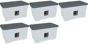 5-x-80L-CONTAINER-PLASTIC-STORAGE-BOX-LARGE-80LTR-LITRE-BOXES-CLEAR-WITH-LIDS