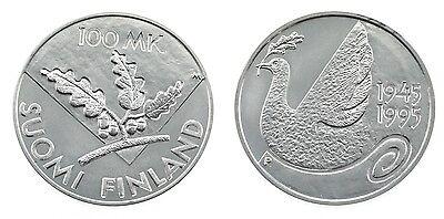 100 Markkaa 1995 - 50 Jahre Vereinte Nationen - Silber