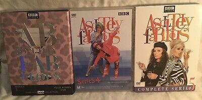 Absolutely Fabulous seasons 1-5 dvd sets good shape! US releases BBC