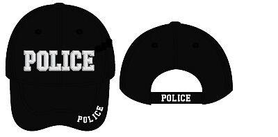Police Baseball Cap Hat ballcap Law Enforcement Hat Black Embroidered Letters