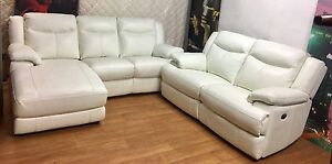 Tudor Leather lounge suite from Nick Scali Athol Park Charles Sturt Area Preview