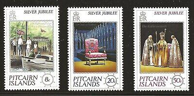 Pitcairn Islands Scott #160-62, Singles 1977 Complete Set FVF MNH
