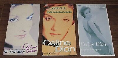 All PROMO issue! CELINE DION 3 x JAPAN snap pack 3 INCH CD SINGLES others listed
