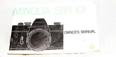 Instructions and guides MINOLTA SRT-101 camera