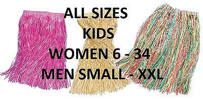 Hawaii Kostüme Plus Größe (Hawaii Gras Röcke, alle Größen inc Plus Größe XL & Leis, Hula, Kostümball)