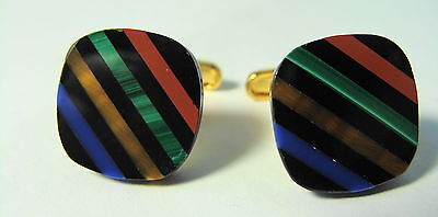 VINTAGE CUFFLINKS MULTI COLOR on Rummage