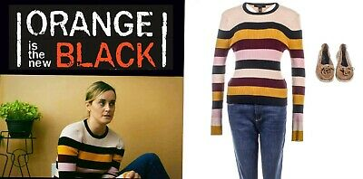 OITNB Piper Chapman Taylor Schilling Screen Worn Sweater, Pants & Shoes Ep 703