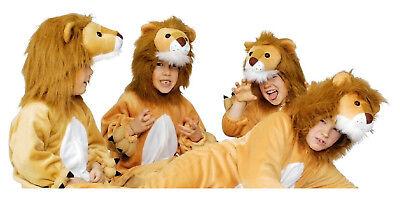 Löwe Löwen Lion Löwenkostüm Kinder Kostüm Overall Plüsch Tier Damen Herren Tiger ()