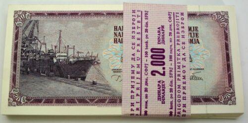 YUGOSLAVIA 20 Dinara 1978 - 100 Bankontes - Ship - UNC *