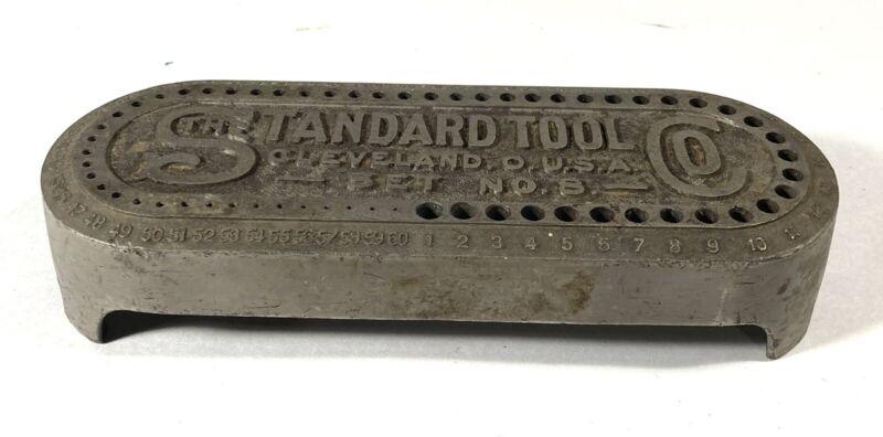 Vintage Standard Tool Co Set No 8 Drill Bit Holder Cleveland Ohio USA
