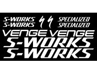 Specialized S-Works//Venge NEW DESIGN Large Set Decals//Stickers Gloss White