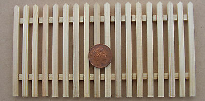 1:12 Scale Single Natural Finish Wood Picket Fence Tumdee Dolls House Accessory