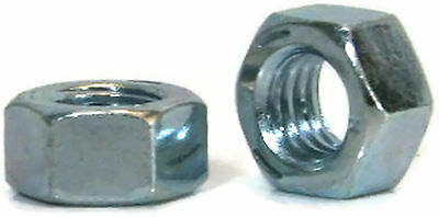 "Hex Finished Nuts Grade 5 Zinc - 7/16""-14 UNC - Qty-100"