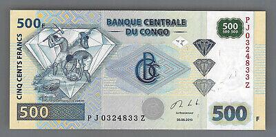Congo 500 francs 2013 !!! replacement PJ .......Z replacement UNC