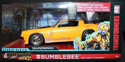 JADA 1/24 METALS DIE-CAST - Transformers BumbleBee 1977 Chevy Camaro