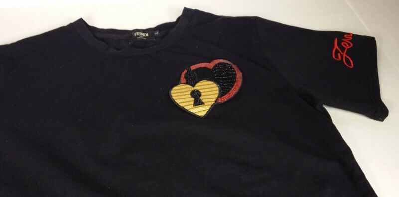 Authentic FENDI Designer t-shirt LARGE Kids