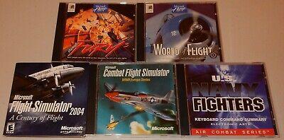 5 Vintage PC Computer Games Navy Combat Flight Simulator 2004 Fury ++ for sale  Peoria