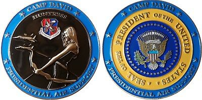 EADS Camp David Presidential Air Support Challenge coin t  41 for sale  Shipping to South Africa