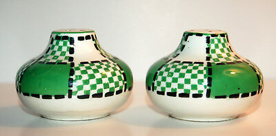 GREEN / WHITE PLAID SALT AND PEPPER - MADE IN JAPAN Plaid Salt