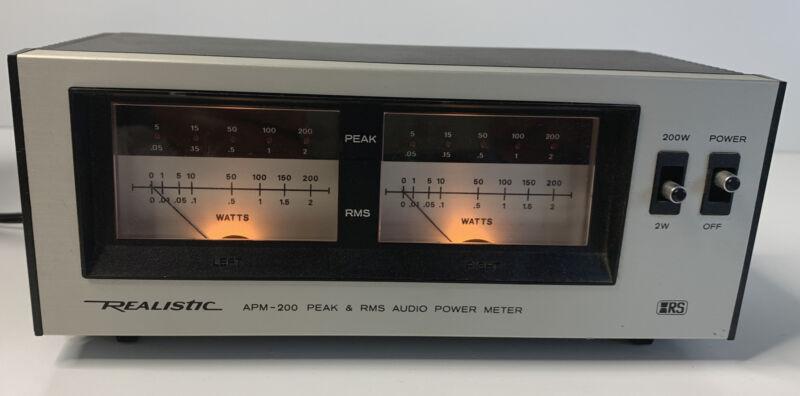 Realistic APM-200 Peak/RMS Audio Power Meter - Tested, working.