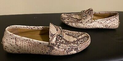 Vintage Gucci Snakeskin Mens Loafer Shoe -Size US9/40EU (See Pics For Cond) RARE