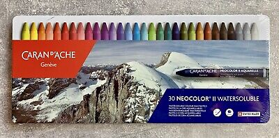 Aquarelle Water Soluble Wax Pastels - NEW!!!!! Caran D'Ache 30 NEOCOLOR II AQUARELLE Watersoluble Wax Pastels