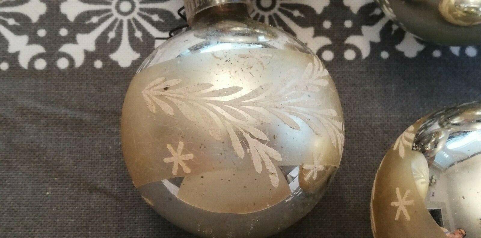Vintage Christbaumschmuck Weihnachtskugeln  Glas 50/60er Jahre