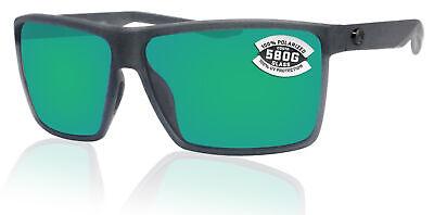 Costa Del Mar Rincon Smoke Frame Green Mirror 580G Glass Polarized (Costa Glass Lens)