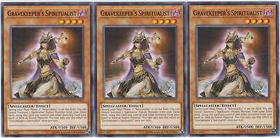 Yugioh! 3x Gravekeeper's Spiritualist - SOFU-EN013 - Common - Unlimited Edition
