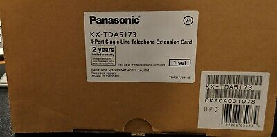 Panasonic Kx-tda5173 4-port Single Line Extension Card Slc4 New Open Box